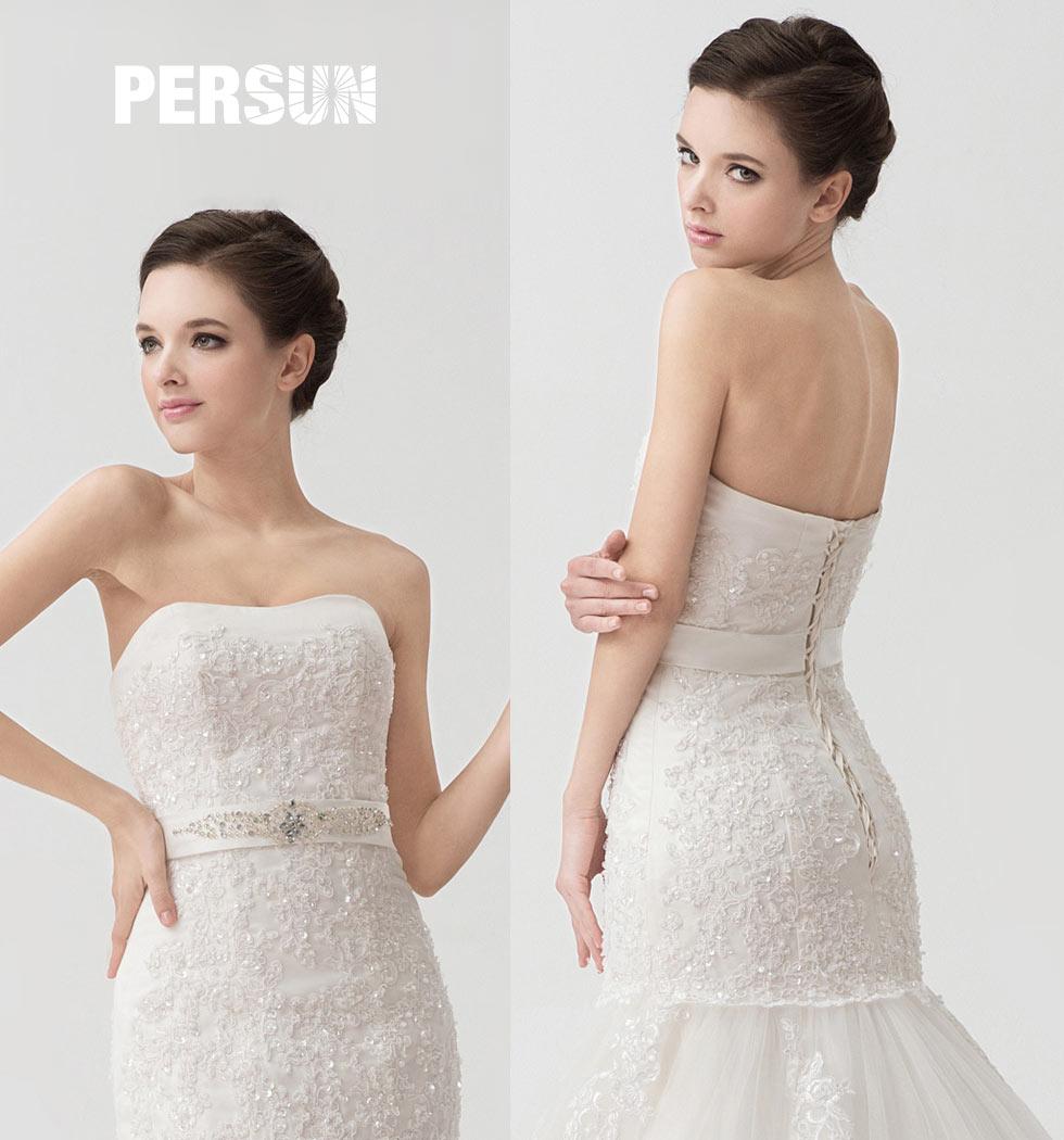 robe de mariée fourreau blanche
