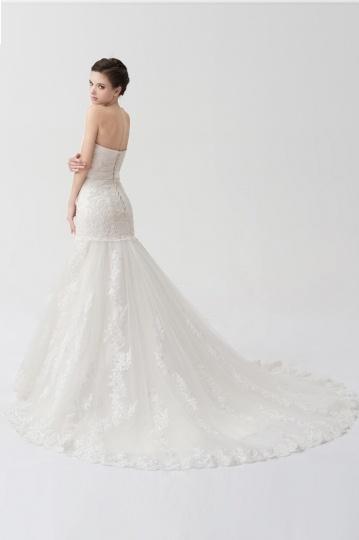 Robe de mariée bustier en sirène