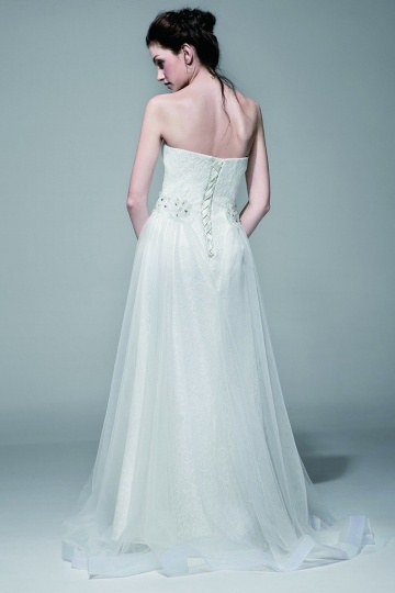 Immaculate Dream Sweatheart Lace wedding gown with Detachable Skirt ...