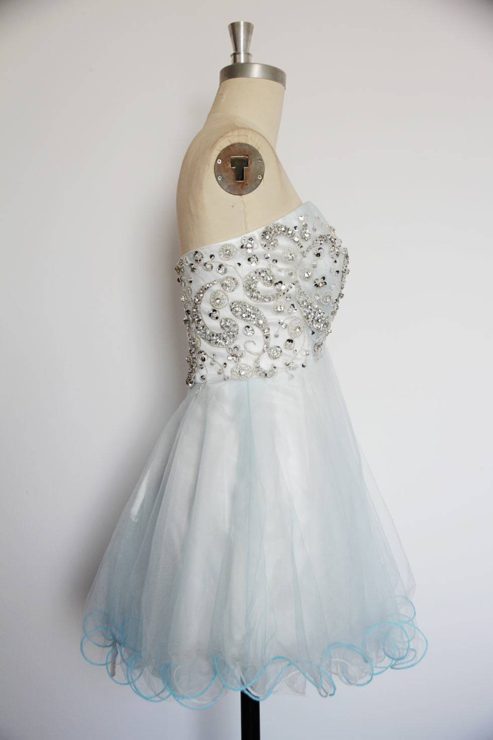 short organza cocktail dress