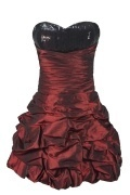 Sequins Lace Strapless Taffeta Princess Cocktail Dress