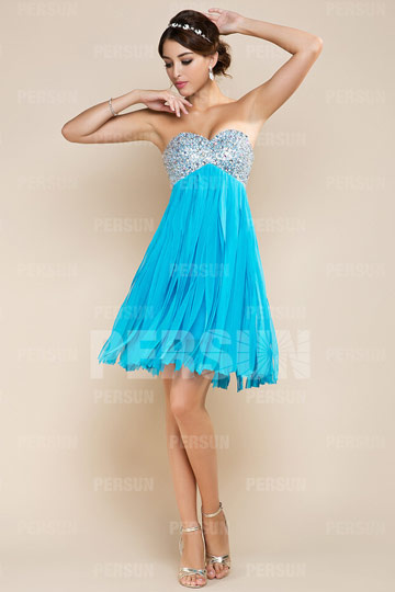 Dressesmall Beading Tassels Sweetheart Chiffon A line Cocktail Dress