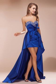 Elegante Vestido de Noche Escote Corazón Satén Corte A
