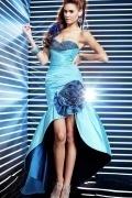 Beaded Flower Sweetheart Mermaid High Low Prom Dress