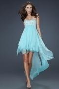 Ruffle Sweetheart A line Chiffon High Low Prom Dress