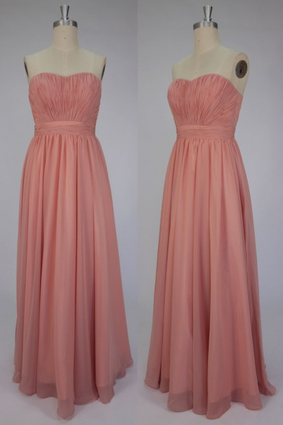 Dressesmall Strapless Ruched Chiffon Celebrity Dress