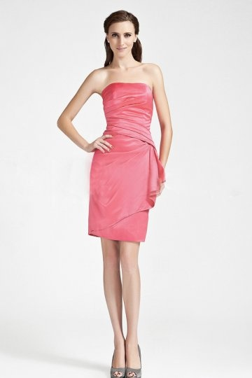 Schlichtes Etui-Linie Falten kurzes festliches Kleid Persun