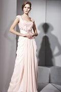 Vestido de Noche de Lyocell Rosa con Escote Cuadrado lentejuelas Corte A