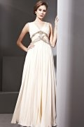 Halstead Elegant V neck Beading Pleats Empire Empire Evening Dress