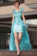 Beading Scoop Chiffon A line Evening Dress