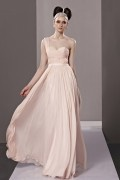 Elegant One Shoulder Ruched A line Chiffon Evening Dress