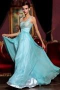 Traumhaftes Träger U Ausschnitt A Linie Empire Applikation Spitze Abendkleid aus Tencel