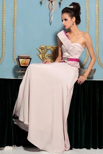 Schönes Ein Schulter A Linie Rüsche Schärpe Abendkleid aus Chiffon Persunshop