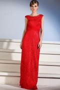 Classical Gorgeous Lace Boatneck Long Evening Dress
