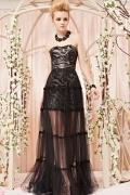 Robe noir bustier pailletée jupe détachable en tulle