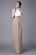 Elegant Sheath Halter Chiffon Formal Evening Dress