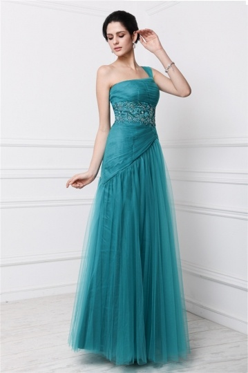 green long formal bridesmaid dress
