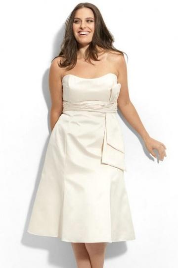 Chic Strapless Ivory Ruching Short Evening Dress Online