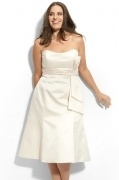 Chic Strapless Ivory Ruching Short Evening Dress Online
