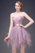 Neu Elegant A-Linie Sweetheart Kurz Abendkleid Partykleider aus Tüll