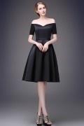 Elegant zeitlos Off Schulter A-Linie Abendkleid