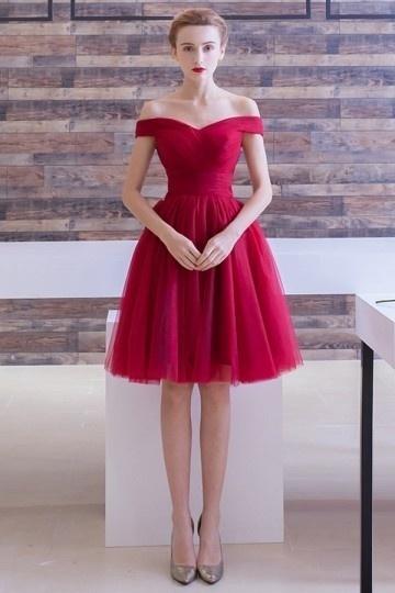 elegant-alinie-off-schulter-rot-knielang-tuell-festliche-kleider
