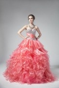 Luxus Herz-Ausschnitt Ball gown Abendkleid Ballkleid aus Organza
