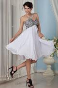 Chic Empire A-Linie Herz-Ausschnitt Knielang Abendkleid aus Chiffon