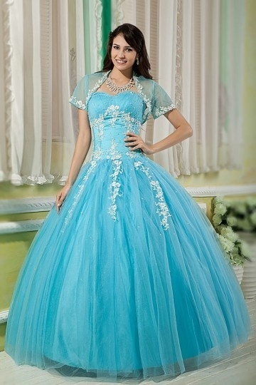 Chic Prinzessin Stil Sweetheart Blau  Tüll Ballkleider Persun