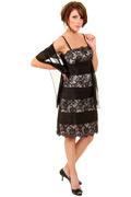 Market Harborough Spaghetti Straps Lace Column Little black dress