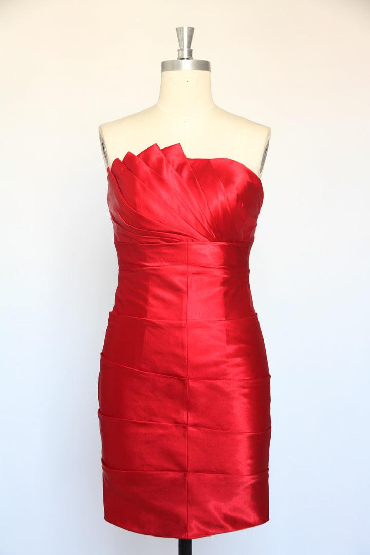 Robe bustier fourreau rouge