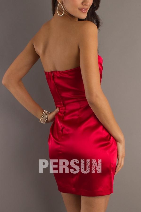 robe invitée mariage dos nu couleur rouge