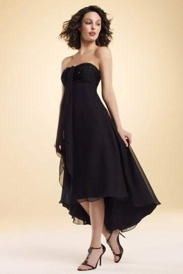 A line Sweetheart Ruched High Low Chiffon Homecoming Dress