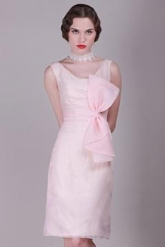 Longridge Organza Scoop Big Flower Pink UK Prom Dress