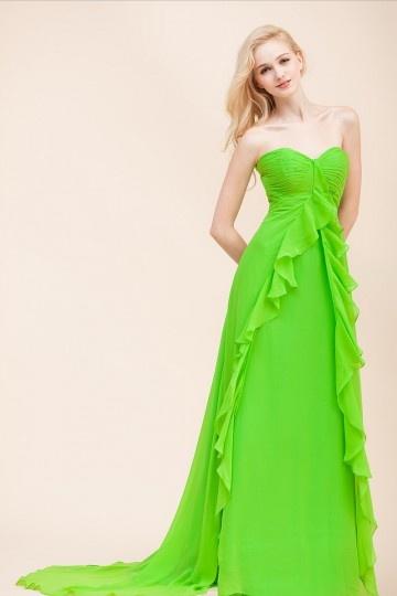 Abiti eleganti corti verdi