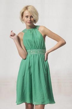 Loughborough Green Knee Length UK Prom Dress