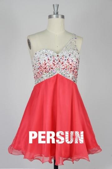Elegantes Kurzes Ärmelloses CocktailKleid aus Chiffon Persun