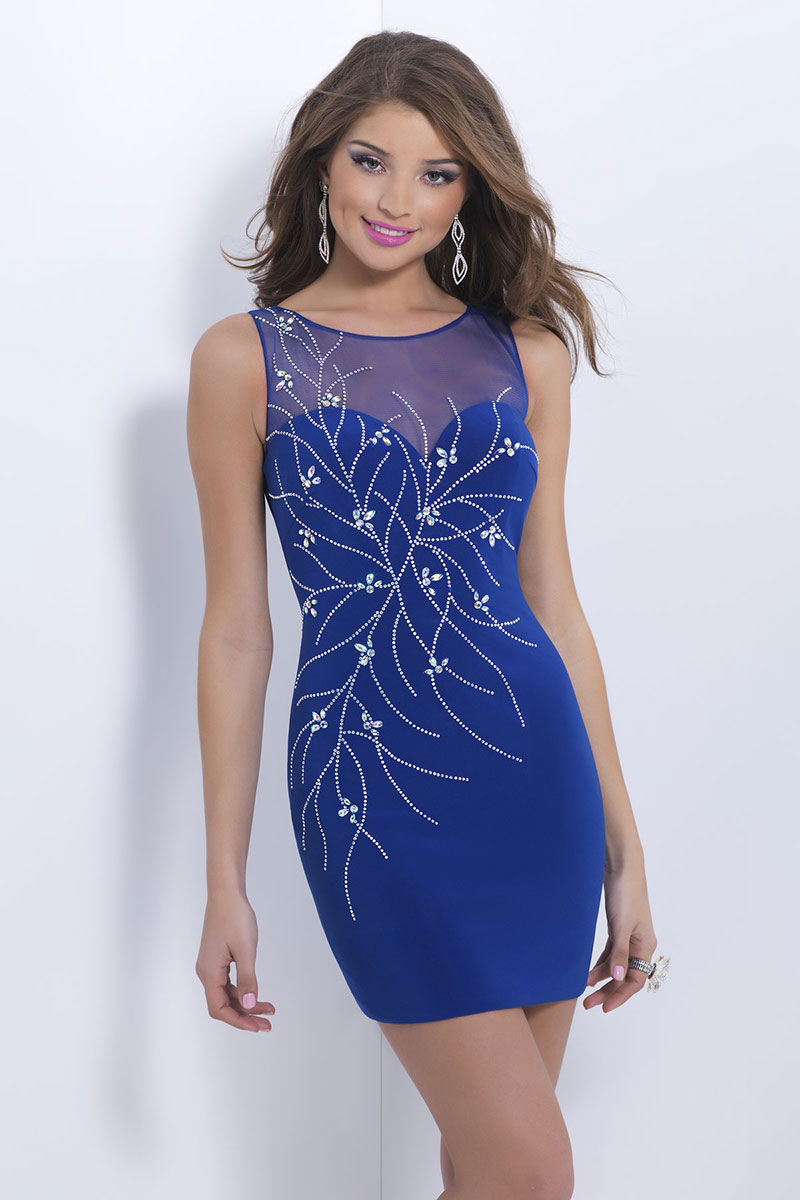 Günstig U Ausschnitt Etui Linie Tüll Kleid für Homecoming ...
