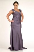 Sweetheart Wrinkle Beaded Satin Mermaid Plus Size Dress