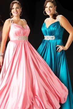 Horncastle Applique Ruched Blue Plus Size Dress