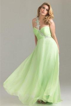 Horwich Applique Ruched Green Plus Size Dress