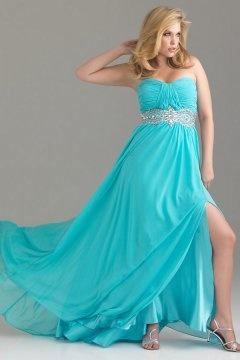 Hounslow Applique Ruched Slit Front Plus Size Dress