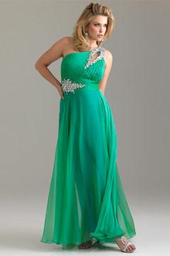 Hoylake One Shoulder Purple Plus Size Dress