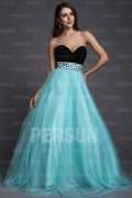 A line Strapless Sweetheart Beaded Empire Tulle Plus Size Evening Dress