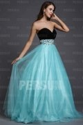 A-line Strapless Sweetheart Beaded Empire Tulle Plus Size Dress
