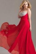 Hyde A line Sweetheart Beaded Empire Chiffon Plus Size Dress