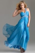 Hythe A line One Shoulder Ruched Tencel Plus Size Dress
