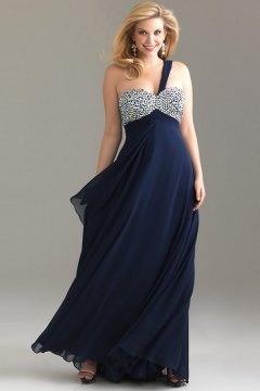 Ilfracombe Sweetheart Navy Empire Plus Size Dress