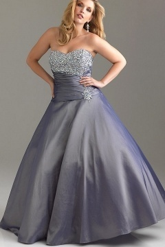 Jarrow Gray Sweetheart Ball Gown Plus Size Dress