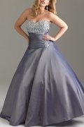 A-line Strapless Sweetheart Ball Gown Taffeta Plus Size Dress